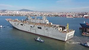 Türkiye'nin en büyük savaş gemisi TCG Anadolu yerli sistemlerle donatılıyor