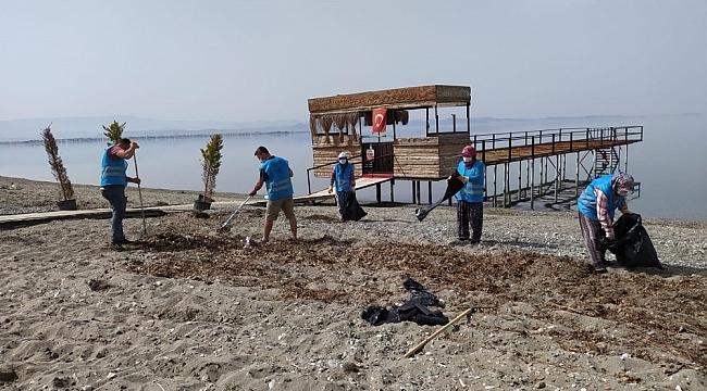 Balıkesir Büyükşehir sahilleri yaza hazırlanıyor