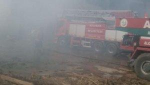 Biyokütle enerji santralinde yangın çıktı