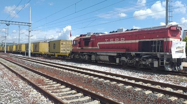 Denizyoluyla taşınacak konteyner tren Tekirdağ'da