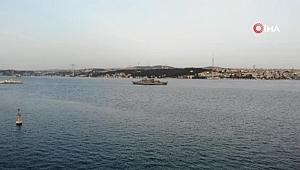 Dolmabahçe açıklarındaki Yavuz fırkateyninde 19.19'da İstiklal Marşı okundu