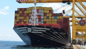 Dünyanın en büyük konteyner gemisi Tekirdağ'da