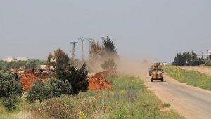 """MSB: """"Türkiye-Rusya Federasyonu Mutabakatı çerçevesinde; İdlib'deki M4 Karayolunda, kara ve hava unsurlarının katılımıyla 11'inci Türk-Rus Birleşik Kara Devriyesi icra edildi."""""""