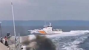Türk Sahil Güvenlik Botu, Yunan botunu kovaladı