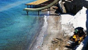 Bodrum sahillerin mermer tozuyla Maldivlere çevirmeye çalıştılar 345 bin lira ceza yediler