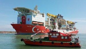 Fatih Sondaj Gemisi römorkörler ile 4 saatlik çalışmanın ardından çekilerek Trabzon Limanı'na giriş yaptı