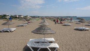 Geyikli'de sahiller boş kaldı