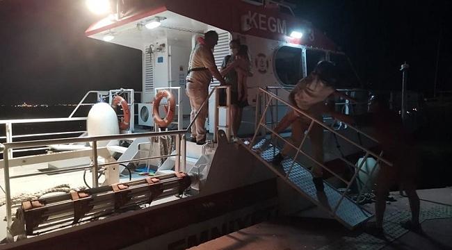 Kartal açıklarında arıza yapan teknede bulunan 3'ü çocuk 5 kişi kurtarıldı