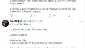 THY, 4 Haziran'dan itibaren İstanbul'dan Anadolu'nun 34 şehrine uçuş başlatacak