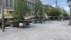 Washington'da Floyd protestolarında şiddet yerine sakinlik hakim