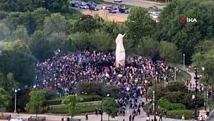 ABD'de Kristof Kolomb heykellerine saldırılar devam ediyor