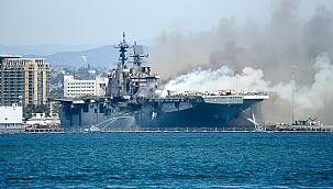ABD'de savaş gemisindeki yangın söndürüldü