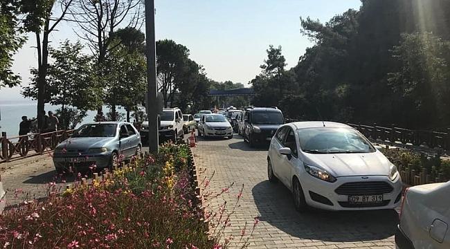 Kuşadası milli parkı araç girişine kapatıldı