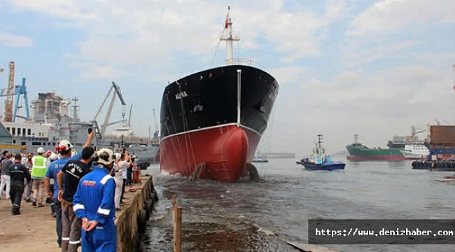 M/T ALİ KA isimli kimyasal tanker törenle denize indirildi