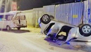 Maltepe sahil yolunda takla atan aracın sürücüsü kayıplara karıştı: 3 kişi yaralandı