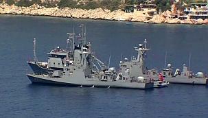 Oruç Reis'e eşlik edecek gemiler Kaş'a geldi