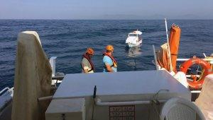 Sürüklenen tekneyi Kıyı Emniyet kurtardı