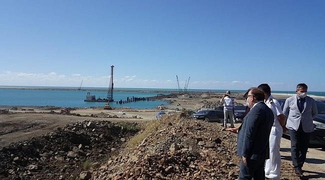 Vali Tutulmaz Filyos Limanını inceledi