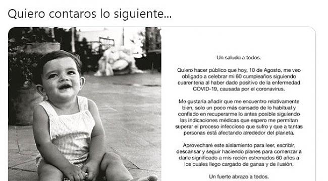 Antonio Banderas korona virüse yakalandı