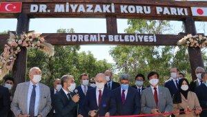 Bakanı Karaismailoğlu, Dr. Miyazaki Koru'nun isminin verildiği parkın açılışını yaptı