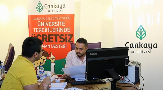 Çankaya'dan üniversite tercihlerinde ücretsiz hizmet