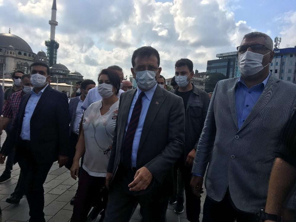 İBB Başkanı İmamoğlu Gezi Parkı'nda incelemelerde bulundu