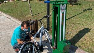 Giresun sahiline bisiklet tamir istasyonları kuruldu