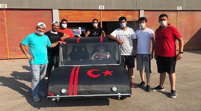Öğrenciler yerli ve milli elektrikli araç üretti