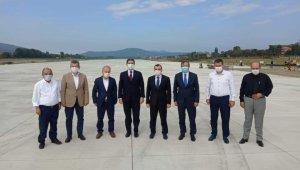Zonguldak Havalimani pist çalışmaları yerinde incelendi