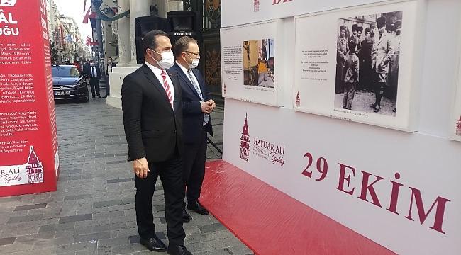 İstiklal Caddesi'nde 29 Ekim Cumhuriyet Bayramı'na özel sergi
