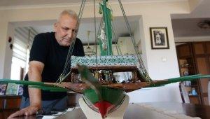 Pandemide Türkiye'nin en büyük minyatür kadırgasını yaptı