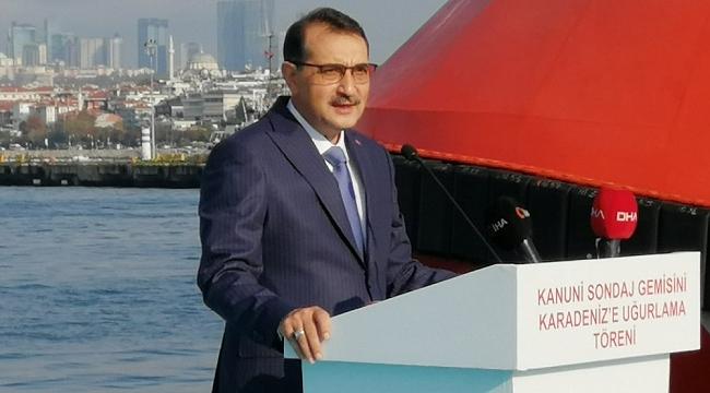 """Bakan Fatih Dönmez: """"Kanuni'yi bugün Karadeniz'e uğurluyoruz"""""""