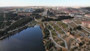 Kütahya'daki 'Saklıgöl' havadan görüntülendi