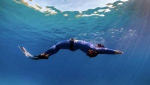 Serbest dalgıç Fatma Uruk'tan 3 günde 3 dünya rekoru
