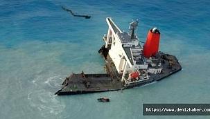 Wakashio gemisinin kıç kısmı aylar sonra resiften çıkarılacak!