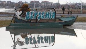 Beyşehir Gölü kıyısındaki parklara hafta içinde de ilgi arttı