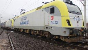 Çin'e gidecek 42 vagon ve 42 konteynerlik ihracat treni Kocaeli'ye uğradı