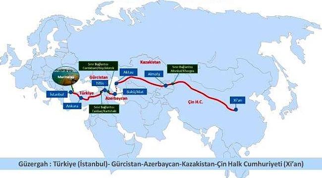 Türkiye' den Çin' e ihraç eşya taşıyan ilk tren 4 Aralık 2020 Cuma günü İstanbul' dan yola çıkıyor