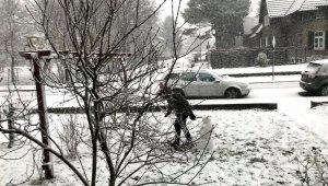 Almanya'da kar hayatı felç etti