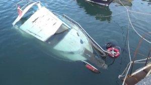 Batan tekne böyle kurtarıldı