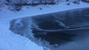 Boraboy Gölü buz tuttu