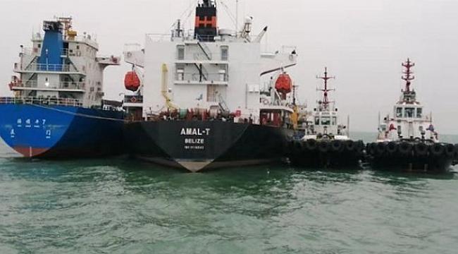 Çin'de iki yük gemisi çarpıştı!