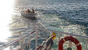 Kıyı Emniyeti Ardeşen açıklarında sürüklenen tekneyi kurtardı!