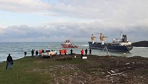 Riva açıklarında sürüklenen geminin kurtarma operasyonu başladı!