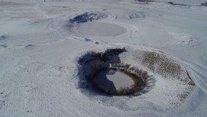 Sibirya soğukları etkili oldu, göller adeta kayboldu