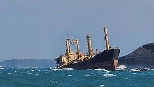 Tayvan Boğazı'nda karaya oturan hayalet gemi gizemini koruyor!