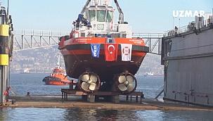 UZMAR'ın inşa ettiği Kurtarma 13 denize indiriliyor!