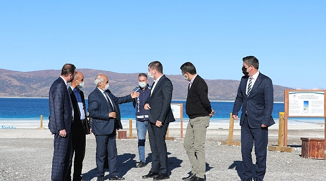 """Başkan Ercengiz: """"Salda Gölü'ndeki çekilmeyi gözlerimizle gördük, önlem almak zorundayız"""""""