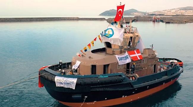 Med Marine Svitzer'e inşa ettiği ikinci römorkörü de suya indirdi!