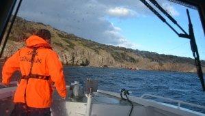 Ayvalık'ta bir adada mahsur kalan 33 mülteciyi Sahil Güvenlik ekipleri kurtardı